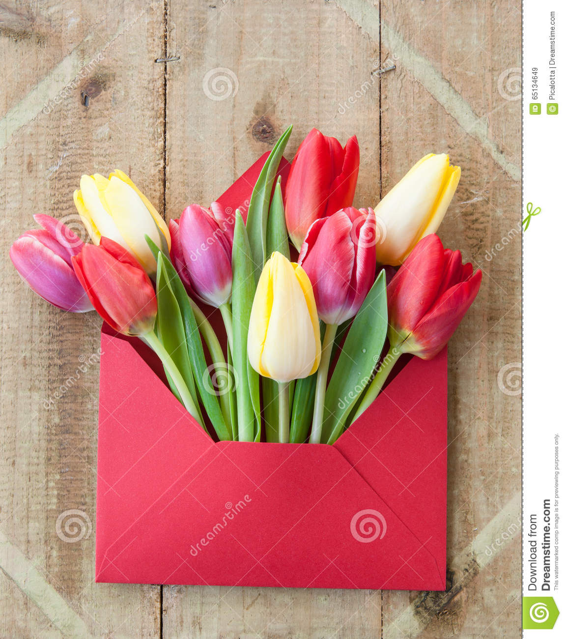 Colorful Flowers In Envelope Stock Image - Image of multi, colors ...
