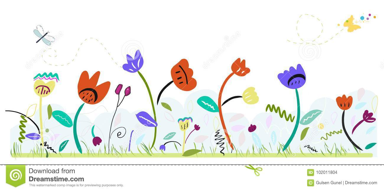 Spring Time Colorful Abstract Cute Flowers Spring Floral
