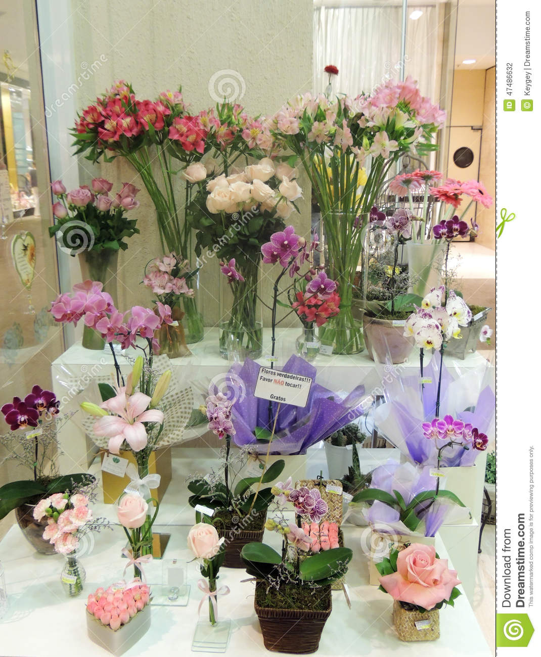 Colorful flowers in flower shop stock photo image of shop colorful flowers in flower shop izmirmasajfo