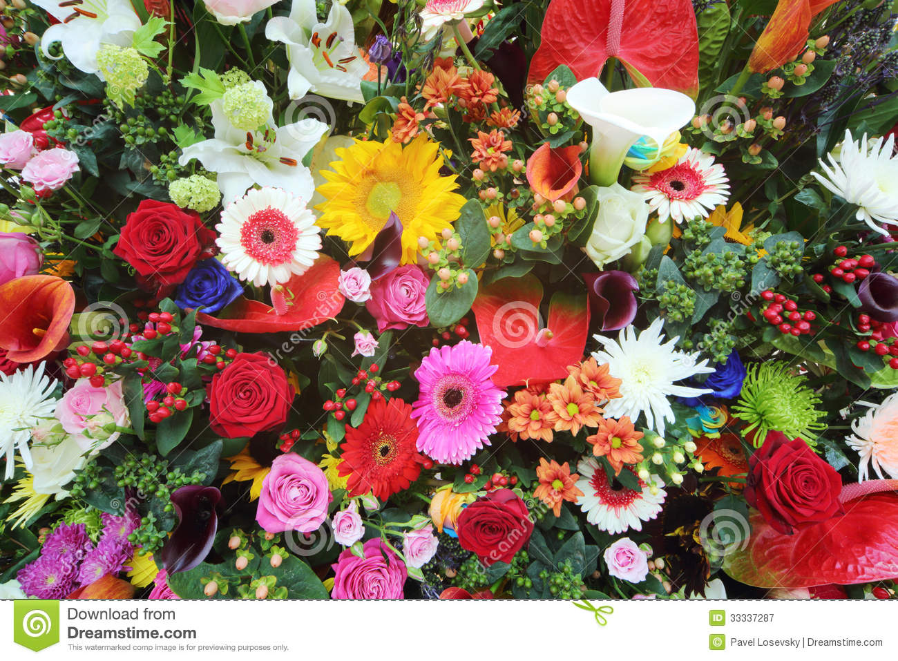 Colorful flowers in large bouquet royalty free stock for Big bouquets of flowers