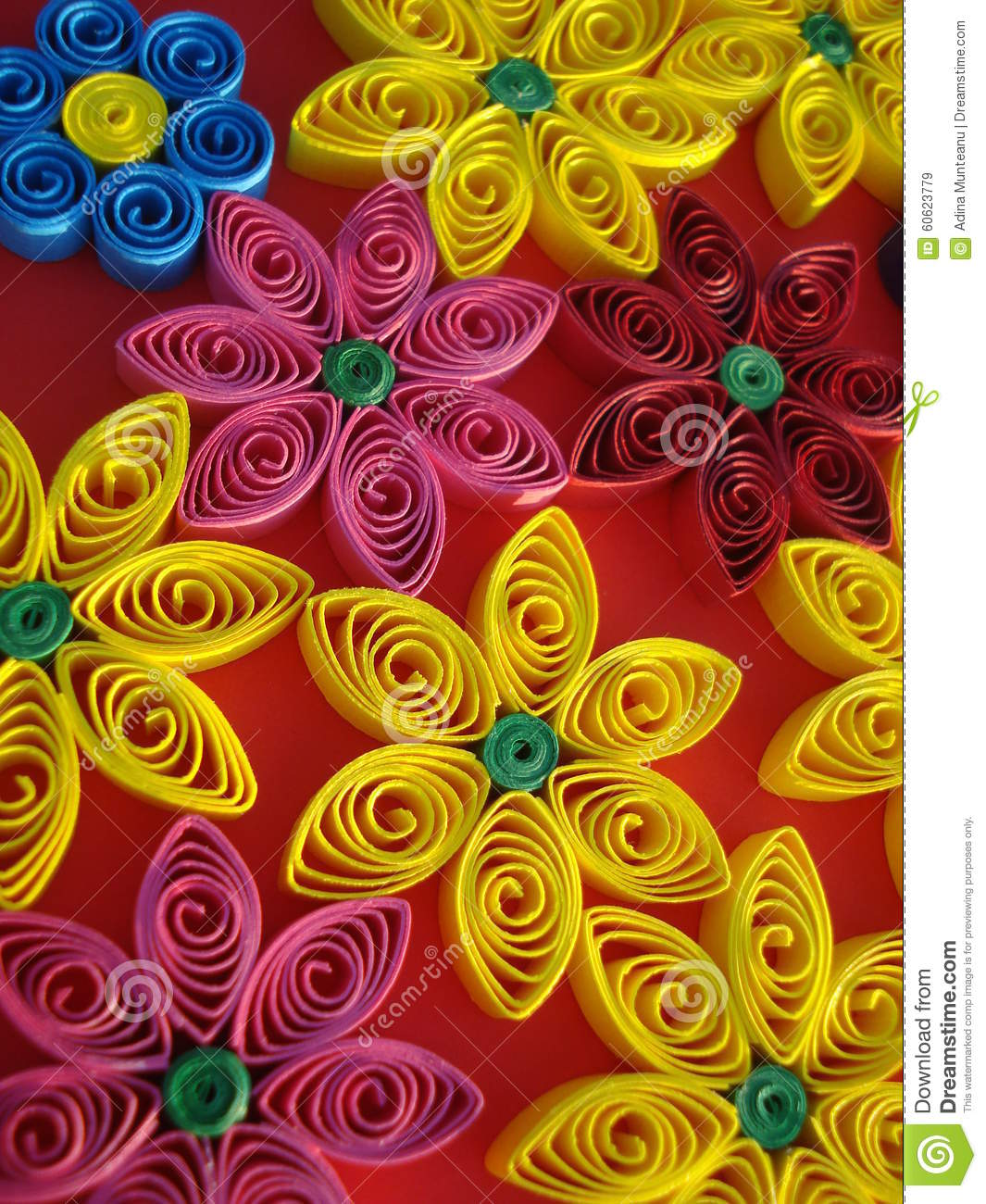 Colorful flowers made of paper on orange background stock image colorful flowers made of paper on orange background stock image image of paper craft 60623779 mightylinksfo