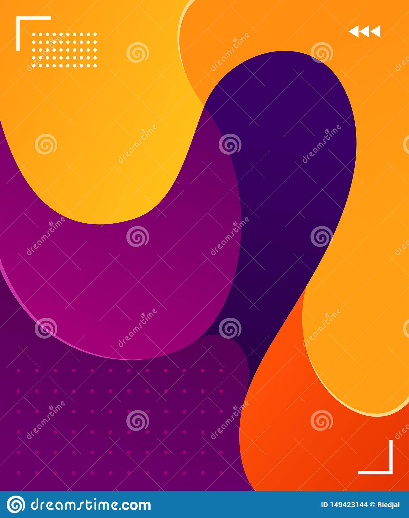 Colorful Fluid Background Vector Graphic Element Stock ...