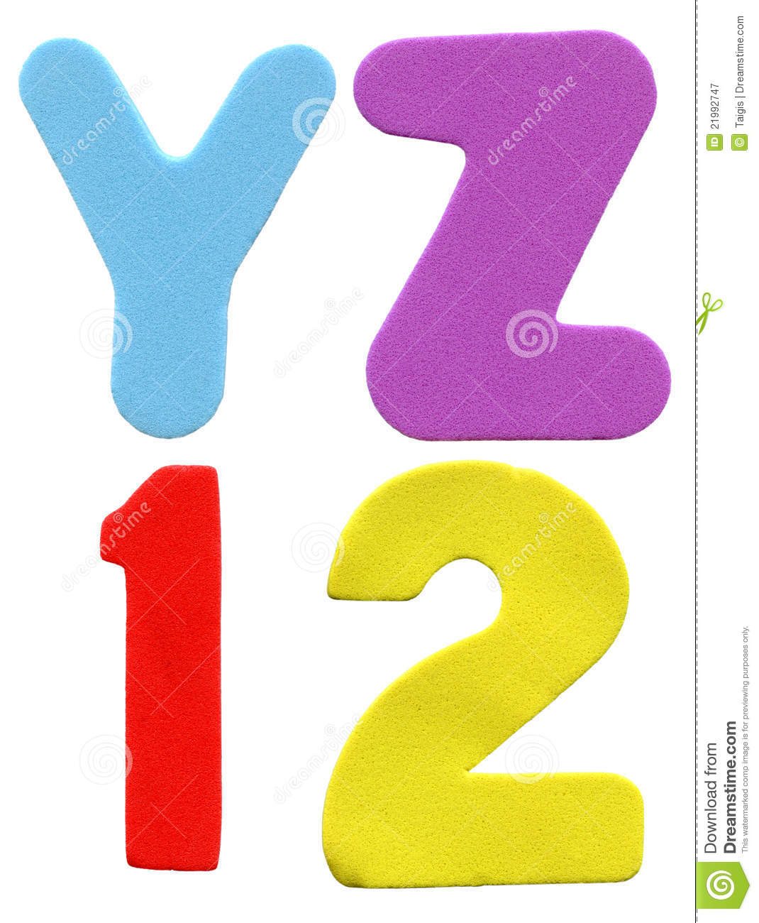 Colorful foam letters and numbers royalty free stock photography