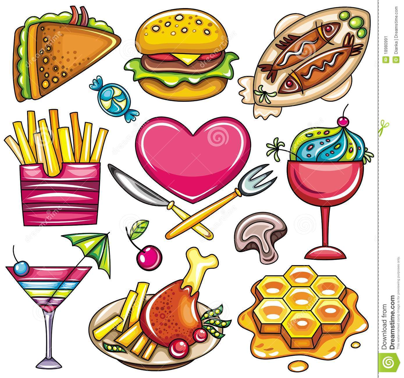 Colorful Food icons 1