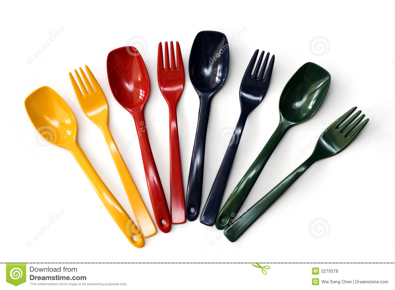Colorful Forks And Spoons Royalty Free Stock Photos