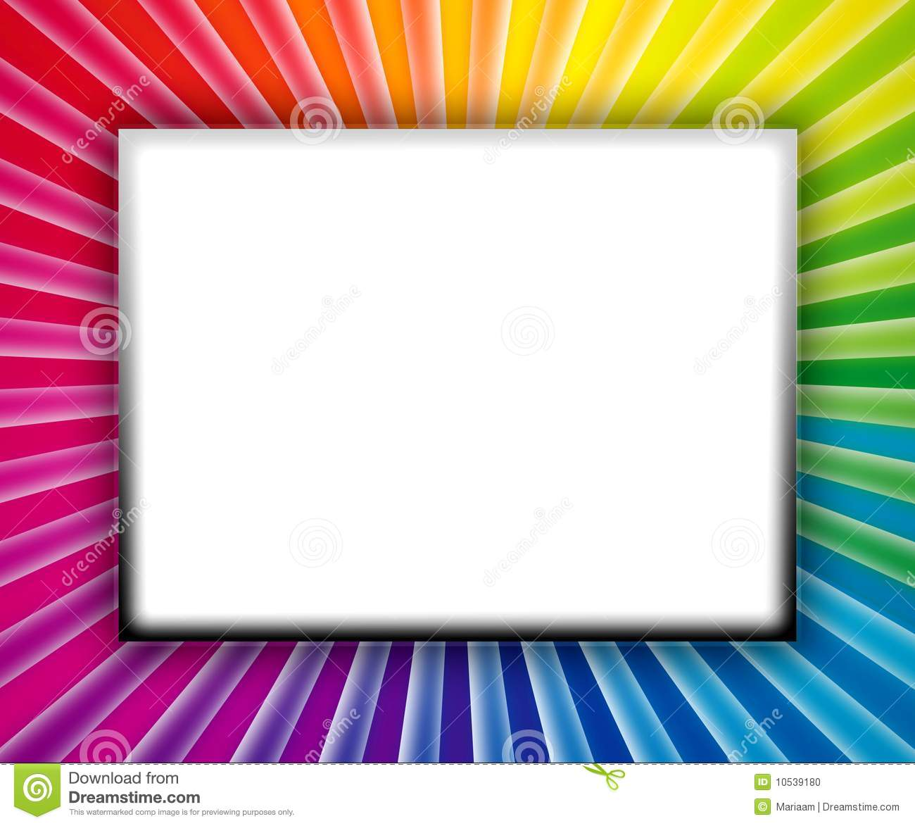 Colorful frame with copy space on white background.