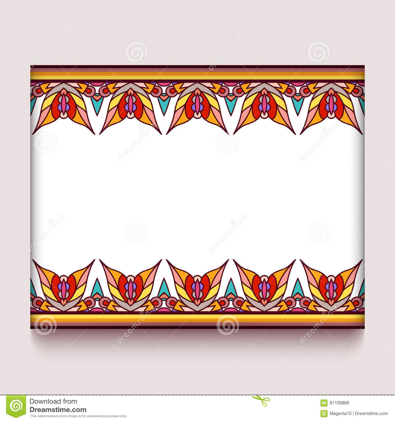 Colorful Frame With Autumn Leaves Borders Stock Vector