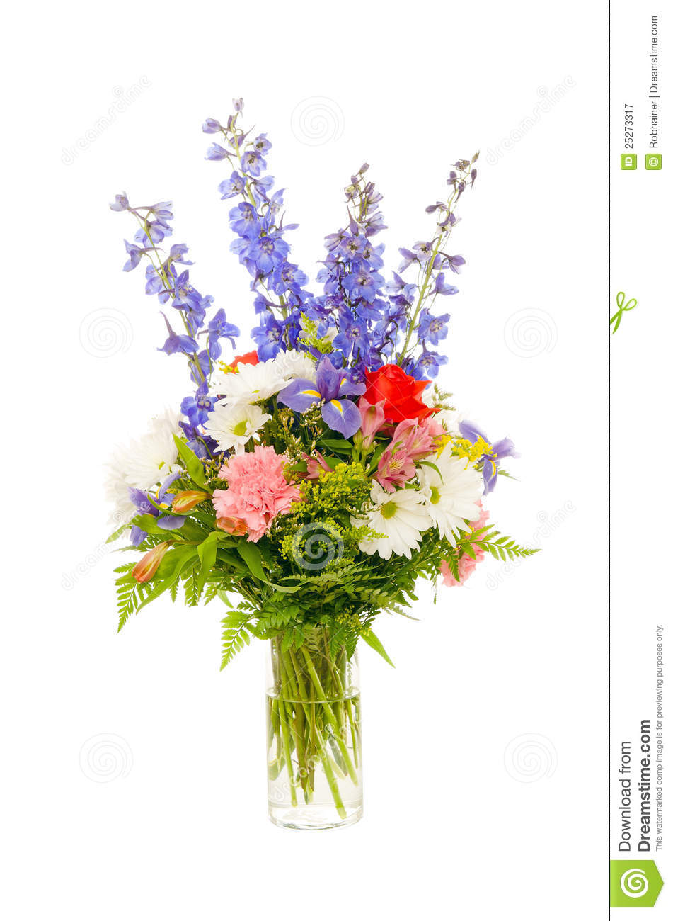 Colorful Fresh Flower Arrangement Centerpiece Stock Image Image Of