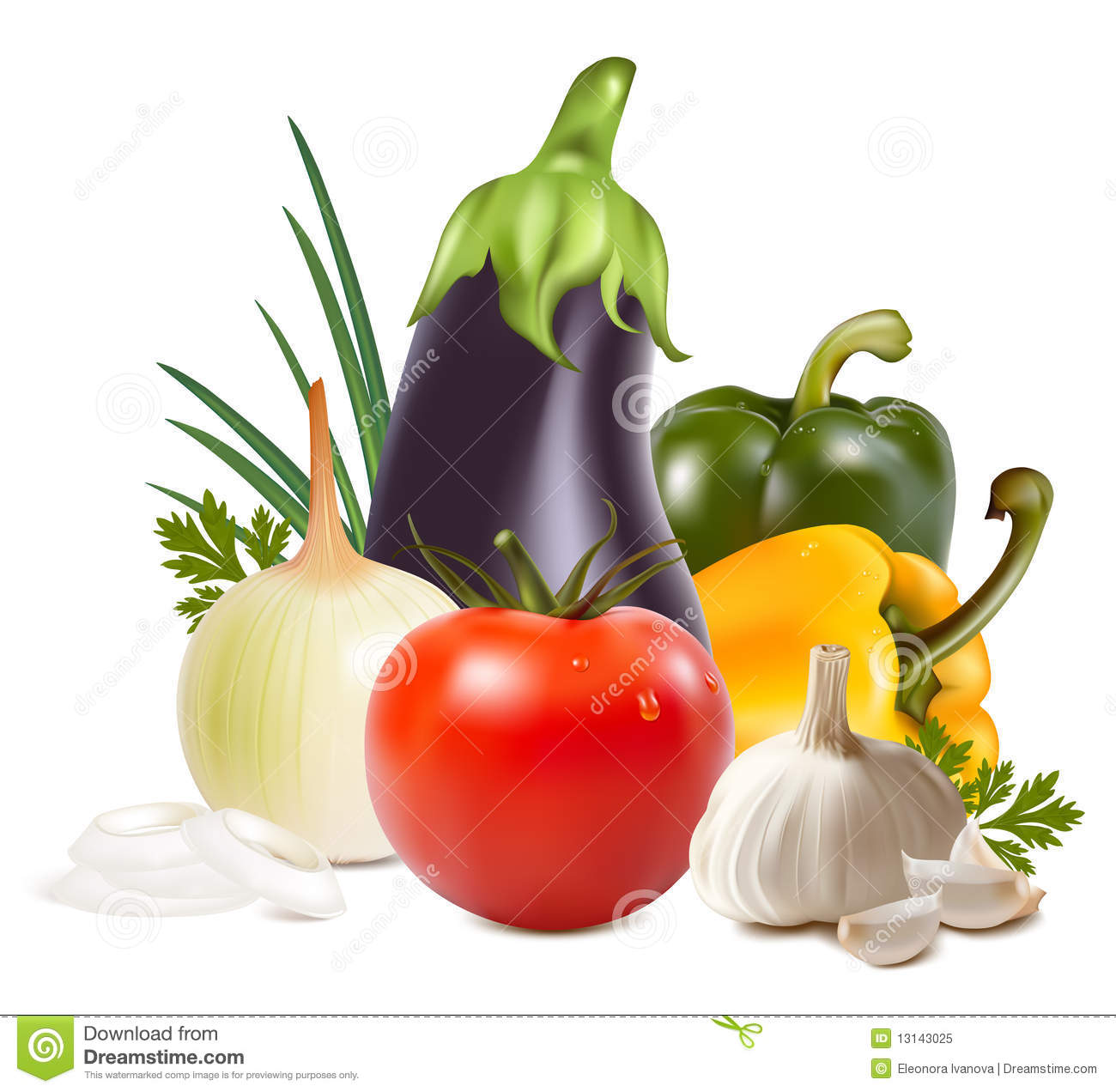 Colorful fresh group of vegetables.