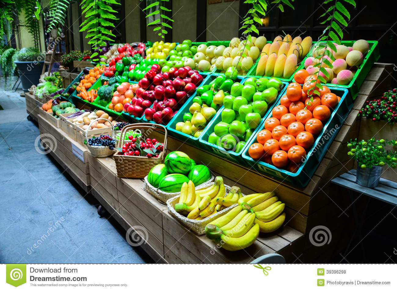 Colorful fruit and vegetable