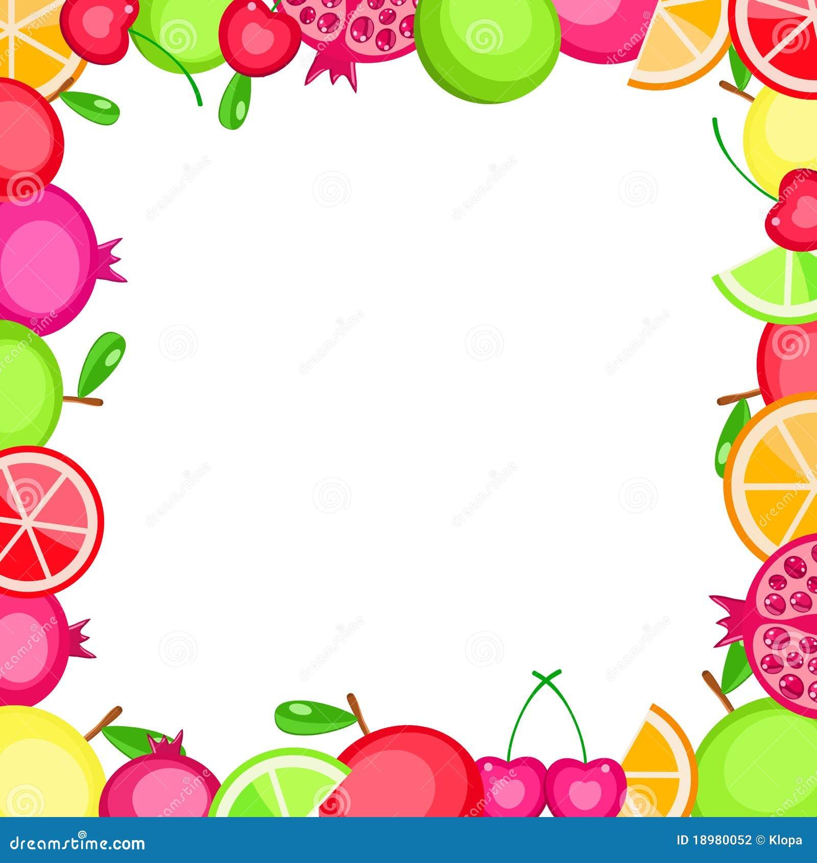 ... fruits frame - app...