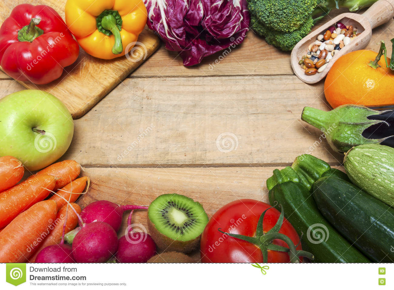 Colorful Fruits And Vegetables Background Stock Image ...