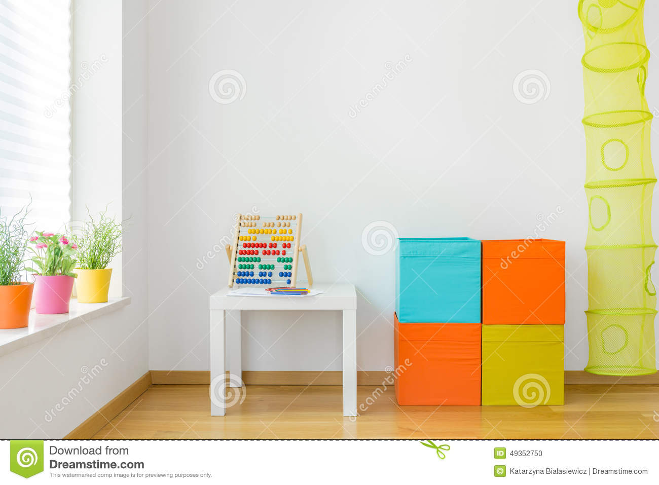 Colorful Furniture In Children Room Stock Photo Image