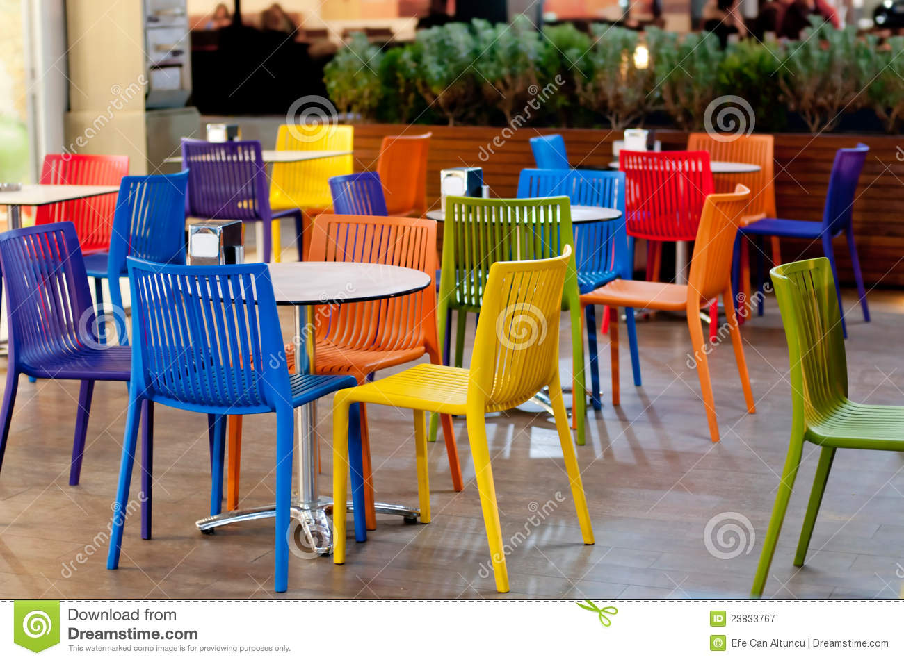 Colorful Garden Cafe Royalty Free Stock Photography