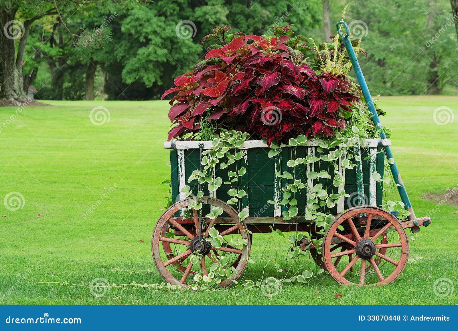 Vintage Garden Cart stock image. Image of stone, wheel - 59522799