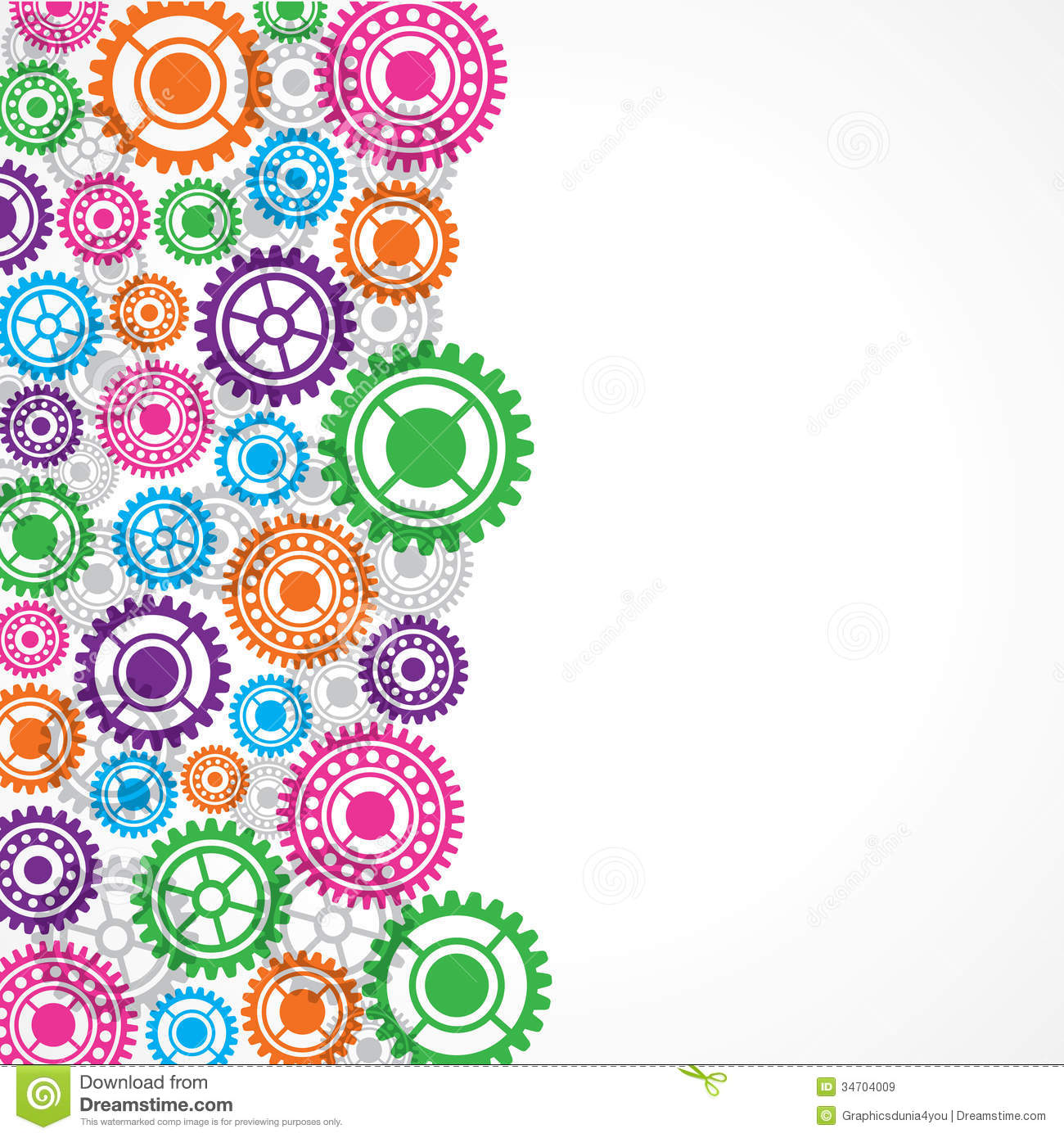 Colorful Gear Background Royalty Free Stock Images - Image ...
