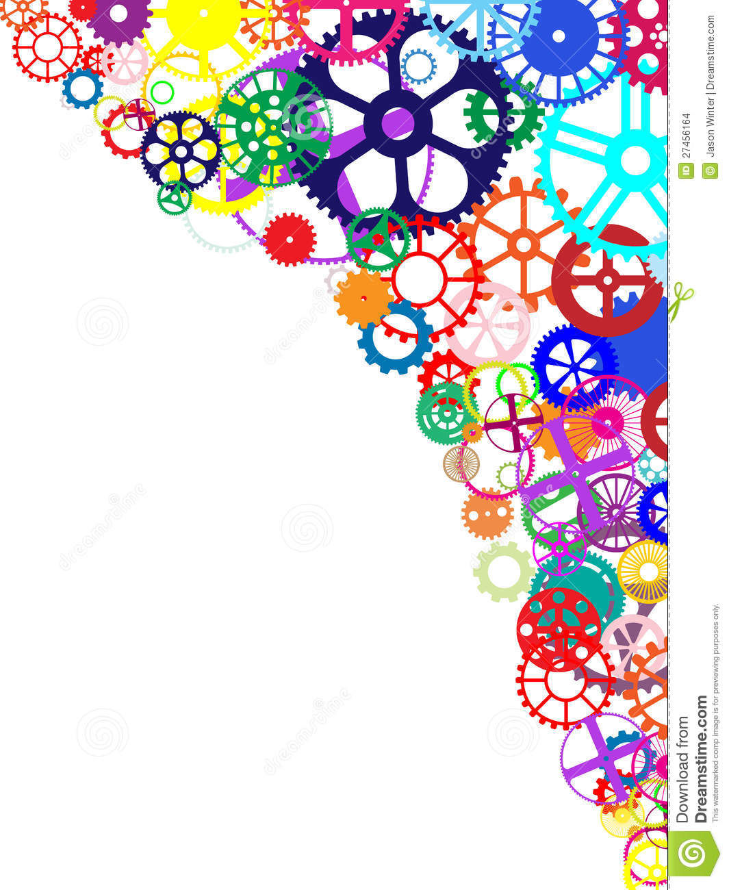 Colorful Gears Background stock vector. Illustration of ...