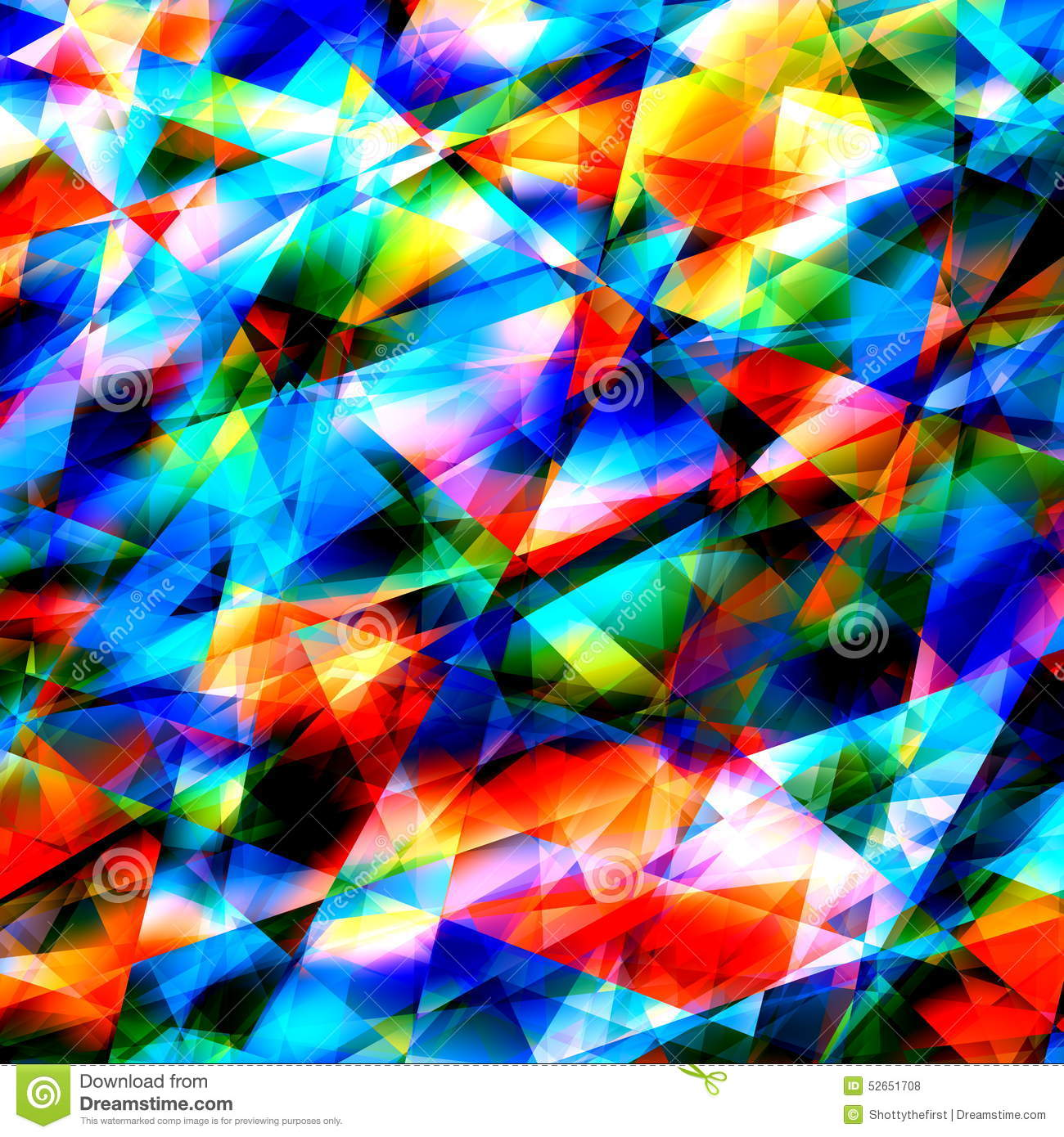 Colorful Geometric Art Background. Cracked or Broken Glass. Modern Polygonal Illustration. Triangular Abstract Pattern. Graphic.
