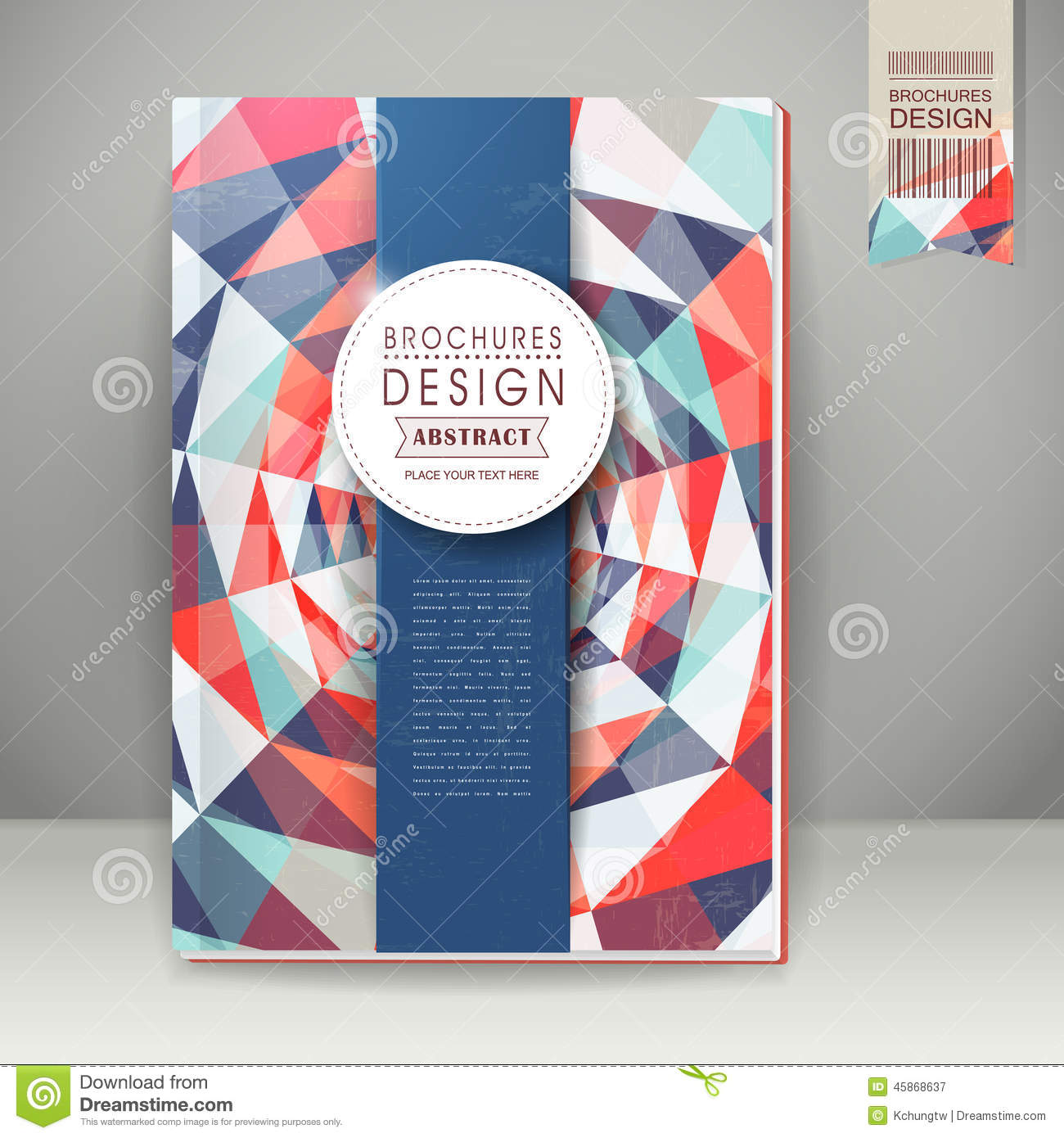 Colorful Geometric Background Design For Book Cover Stock Vector ...
