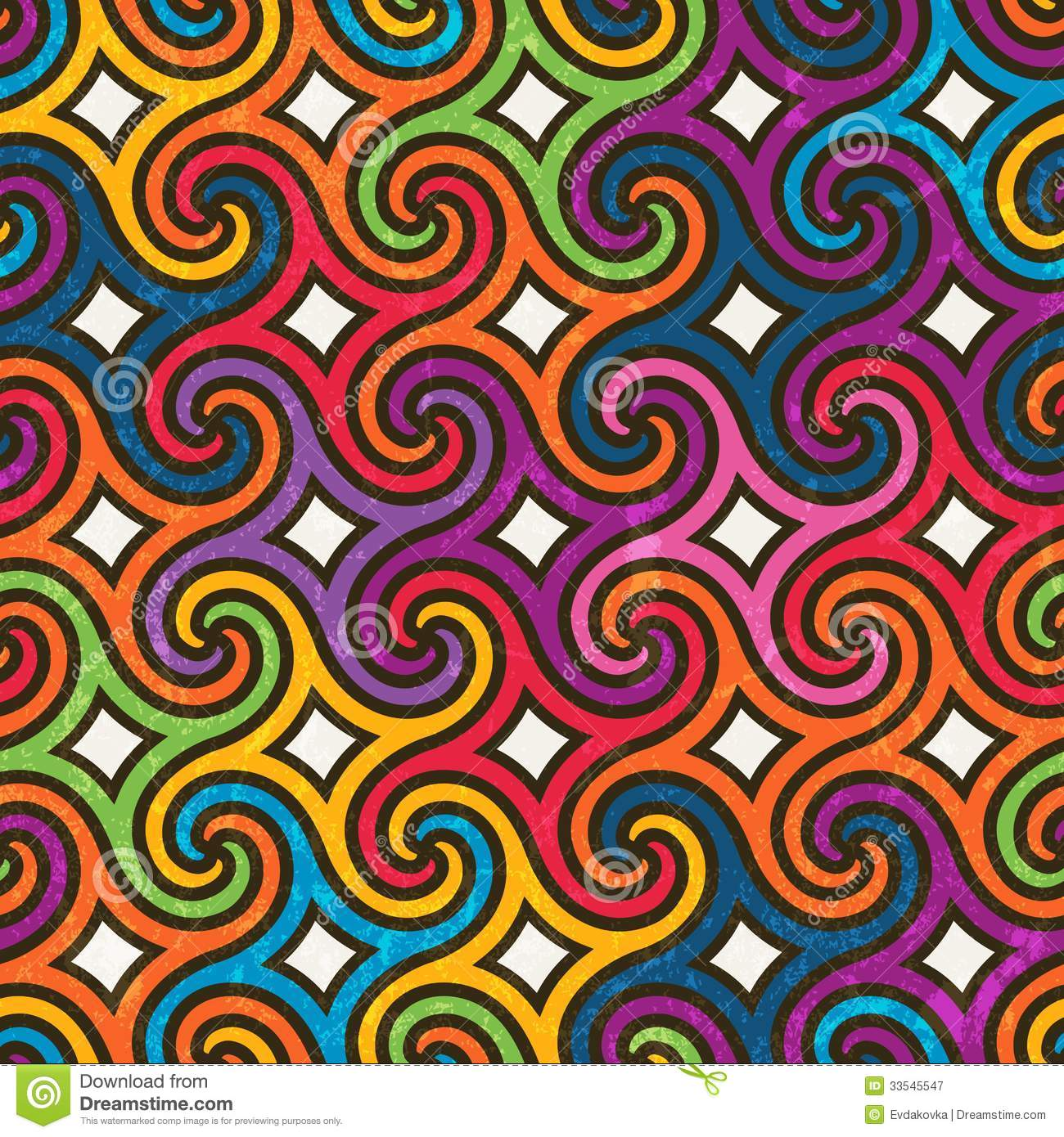 Colorful Geometric Pattern With Spirals Royalty Free Stock Photography ...