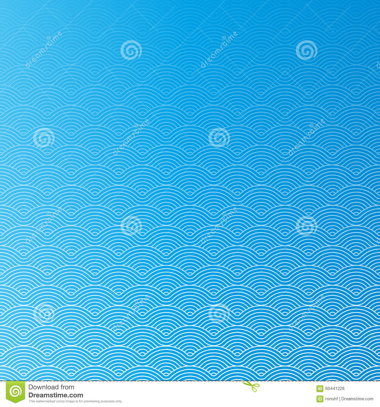 Colorful geometric seamless repetitive vector curvy waves pattern texture background