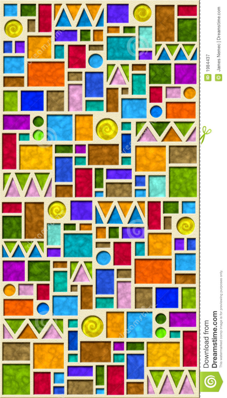 Colorful Geometric Tile Pattern Royalty Free Stock