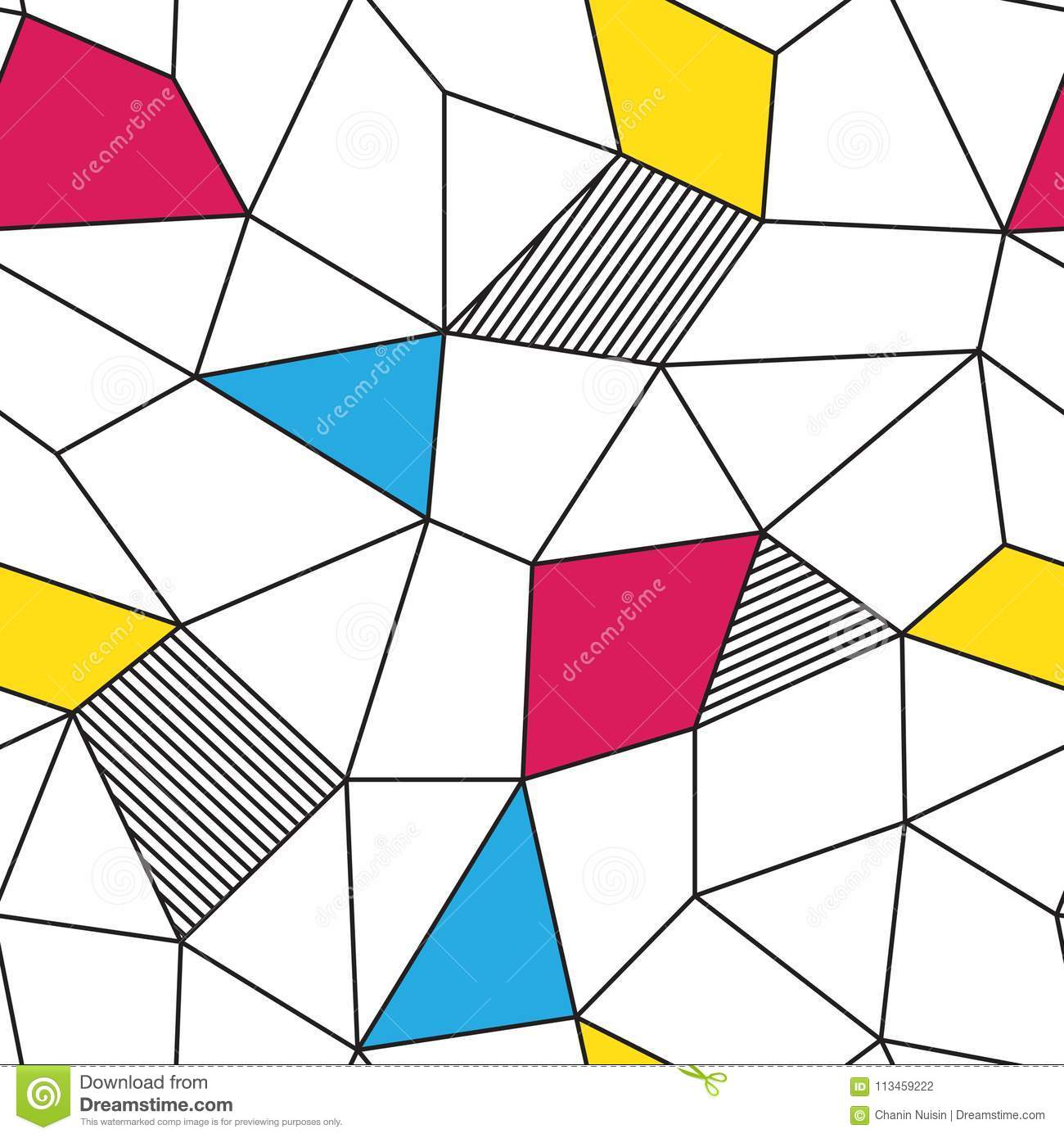 Colorful Geometric Triangle Abstract Polygon Seamless ...