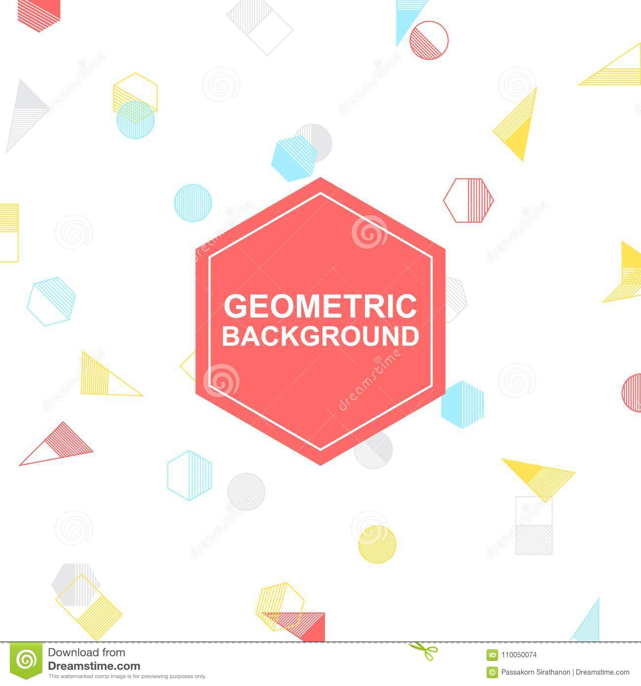 Colorful Geometric Vector, White Background For Your Design And ...