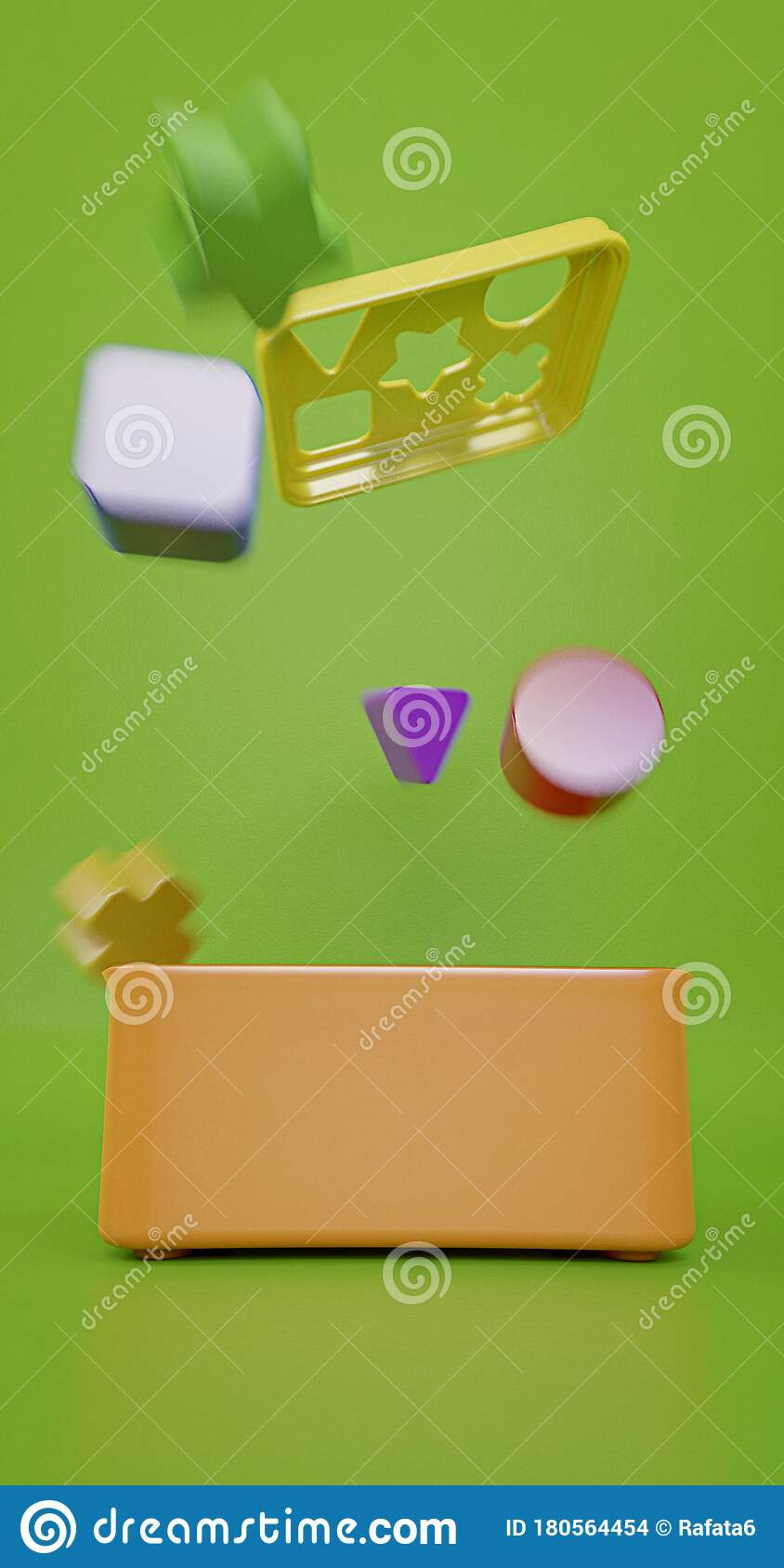 Colorful Geometry Toy Blocks Getting Out Of Its Box Children Game 3d Illustration Stock Illustration Illustration Of Attention Geometry 180564454