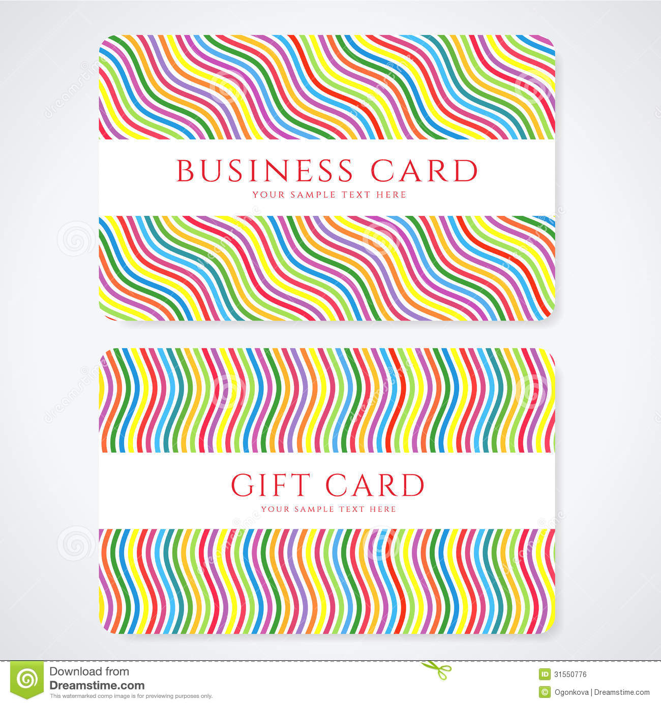 Colorful gift card discount card business card royalty for Gift card for business