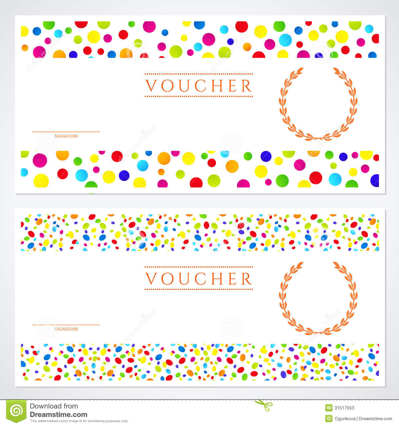 Colorful gift certificate voucher template stock vector colorful gift certificate voucher template yadclub Choice Image