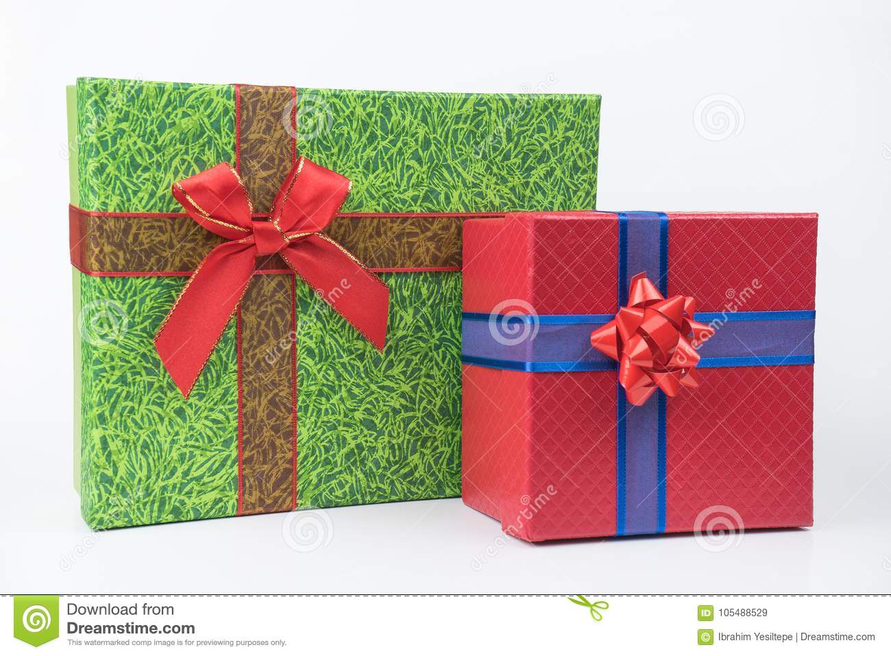 Colorful gift packages, new year, Valentine`s day.