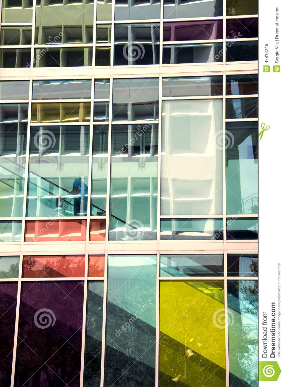 Colorful glass Building