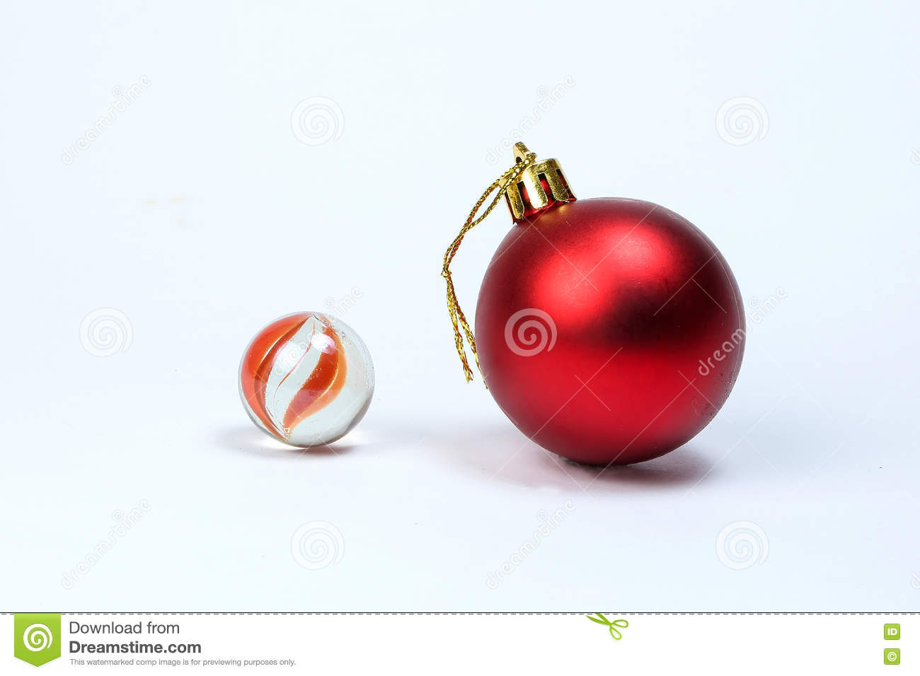Colorful Glass Marble Christmas Ball Stock Photo Image Of Marbles