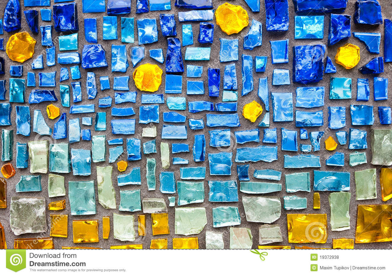 Colorful glass mosaic wall background