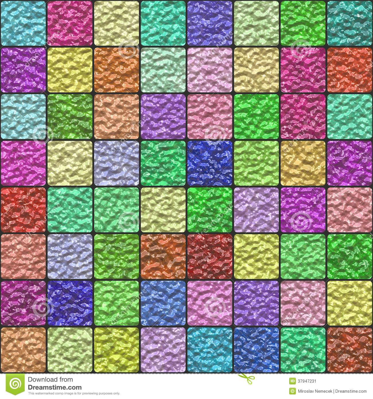 Colorful Glazed Tiles Generated Texture Stock Image