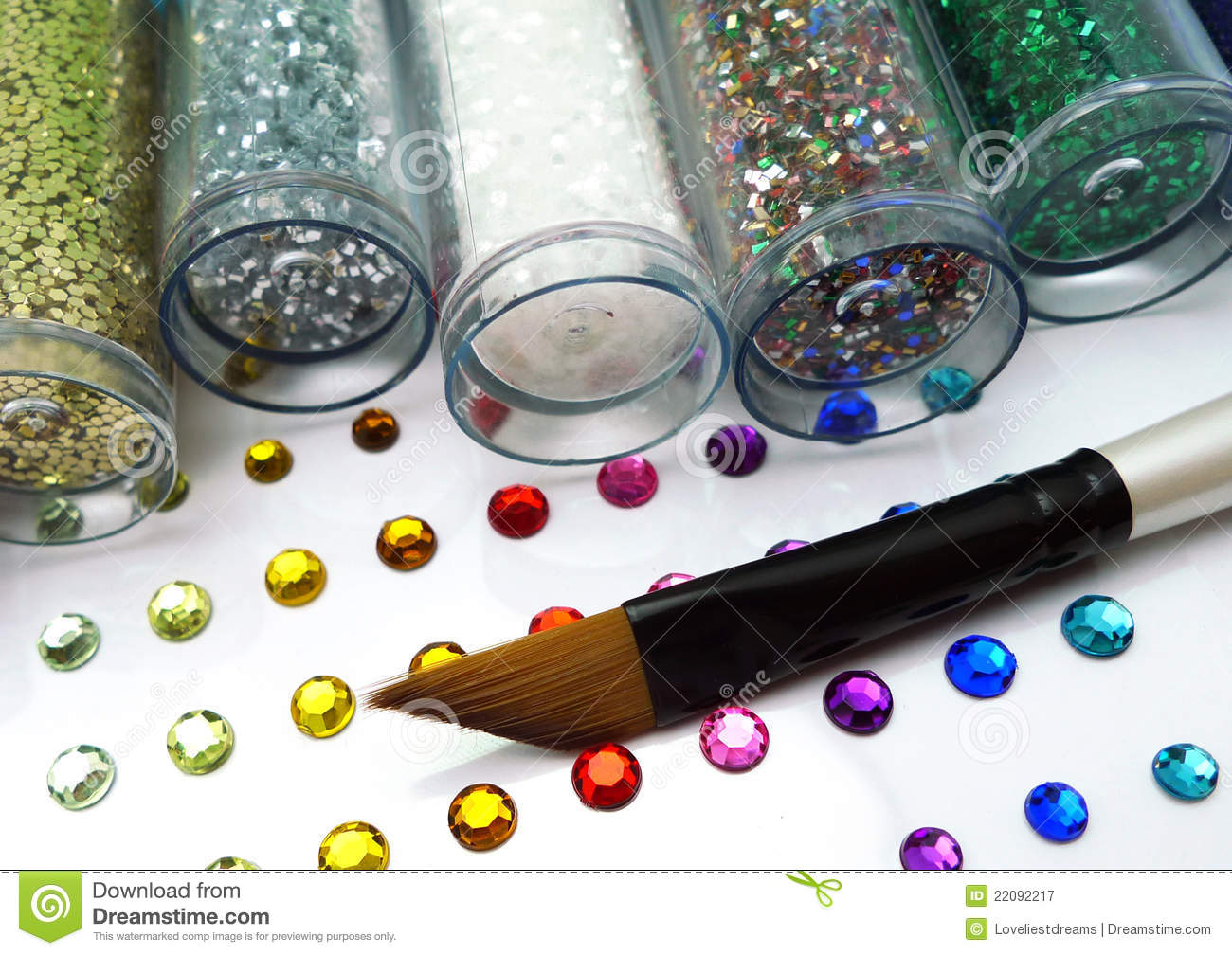Colorful glitter and rhinestone crafts with brush royalty for Rhinestone jewels for crafts