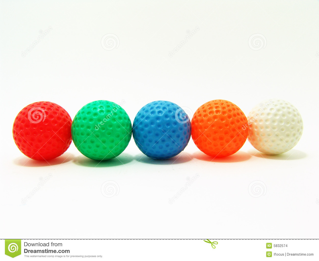 Colorful Golf Balls Stock Images - Image: 5832574