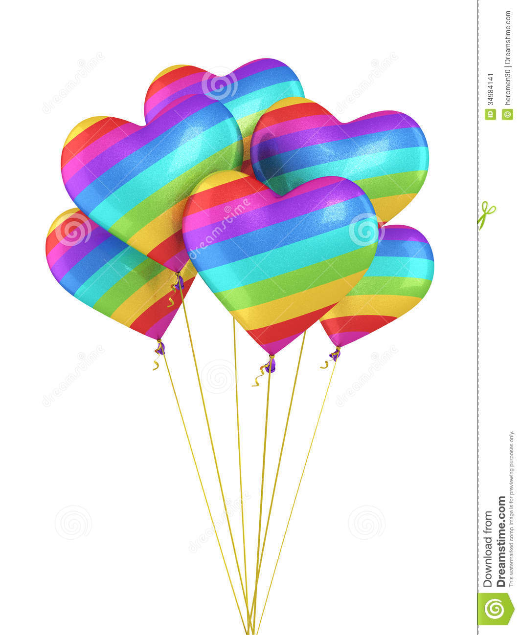 Colorful gradient heart balloons stock image image 34984141 - How to make heart balloon ...