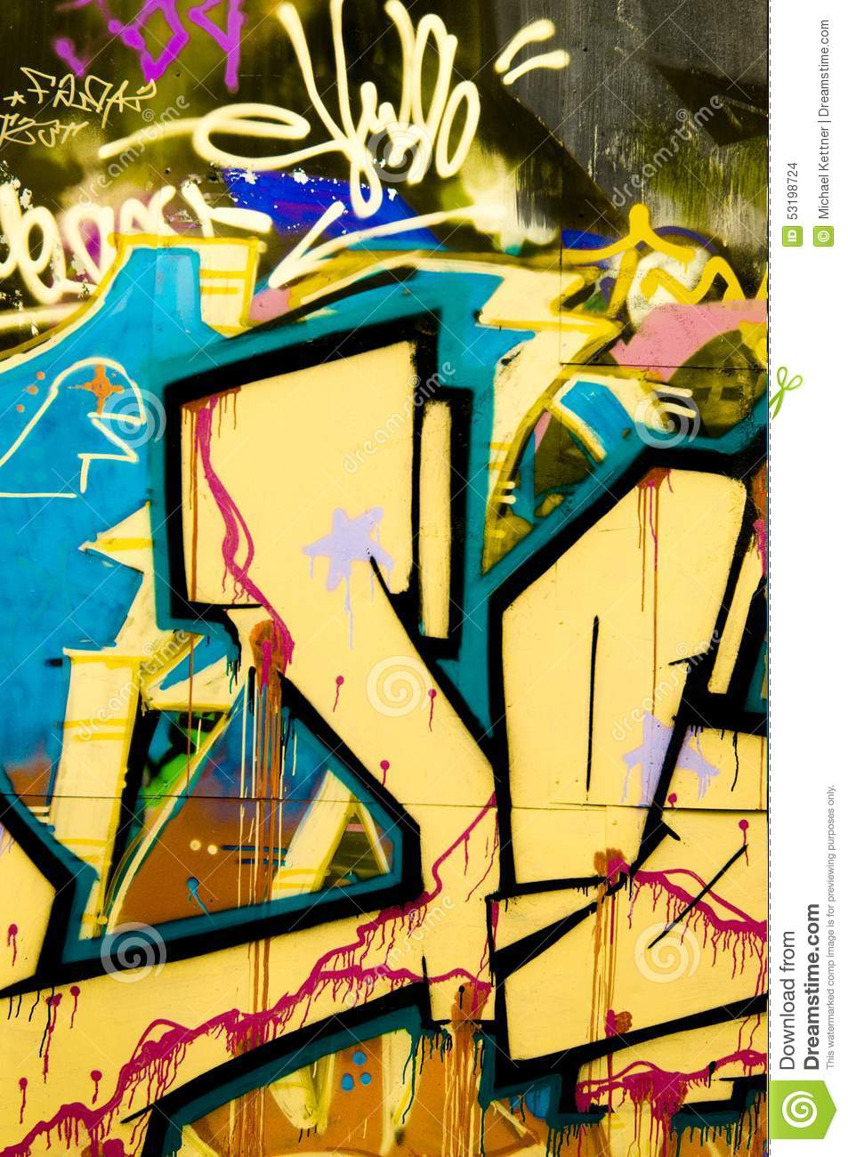 Colorful Graffiti With Heaven And Clouds Stock Photo - Image of ...