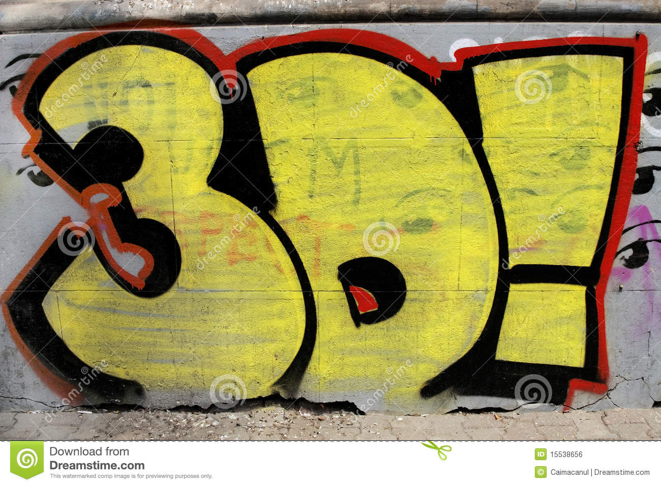 Colorful Graffiti On Street Wall Stock Photo - Image of background ...