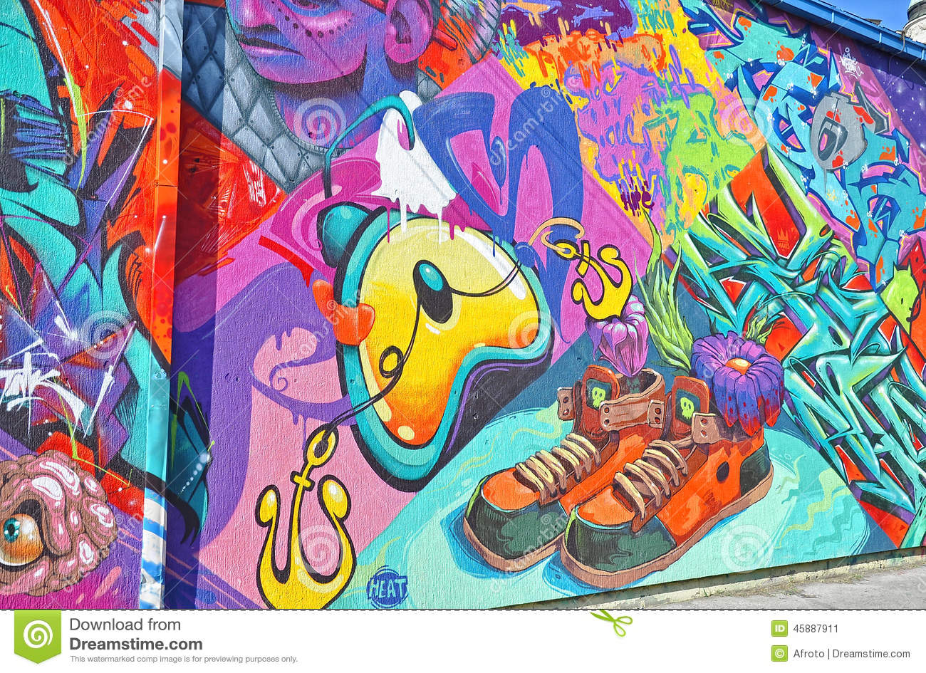 Colorful graffiti