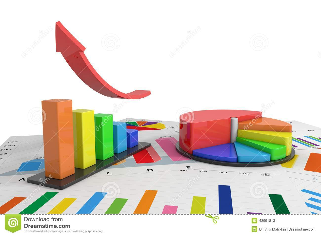Colorful graph stock illustration. Illustration of moving   20