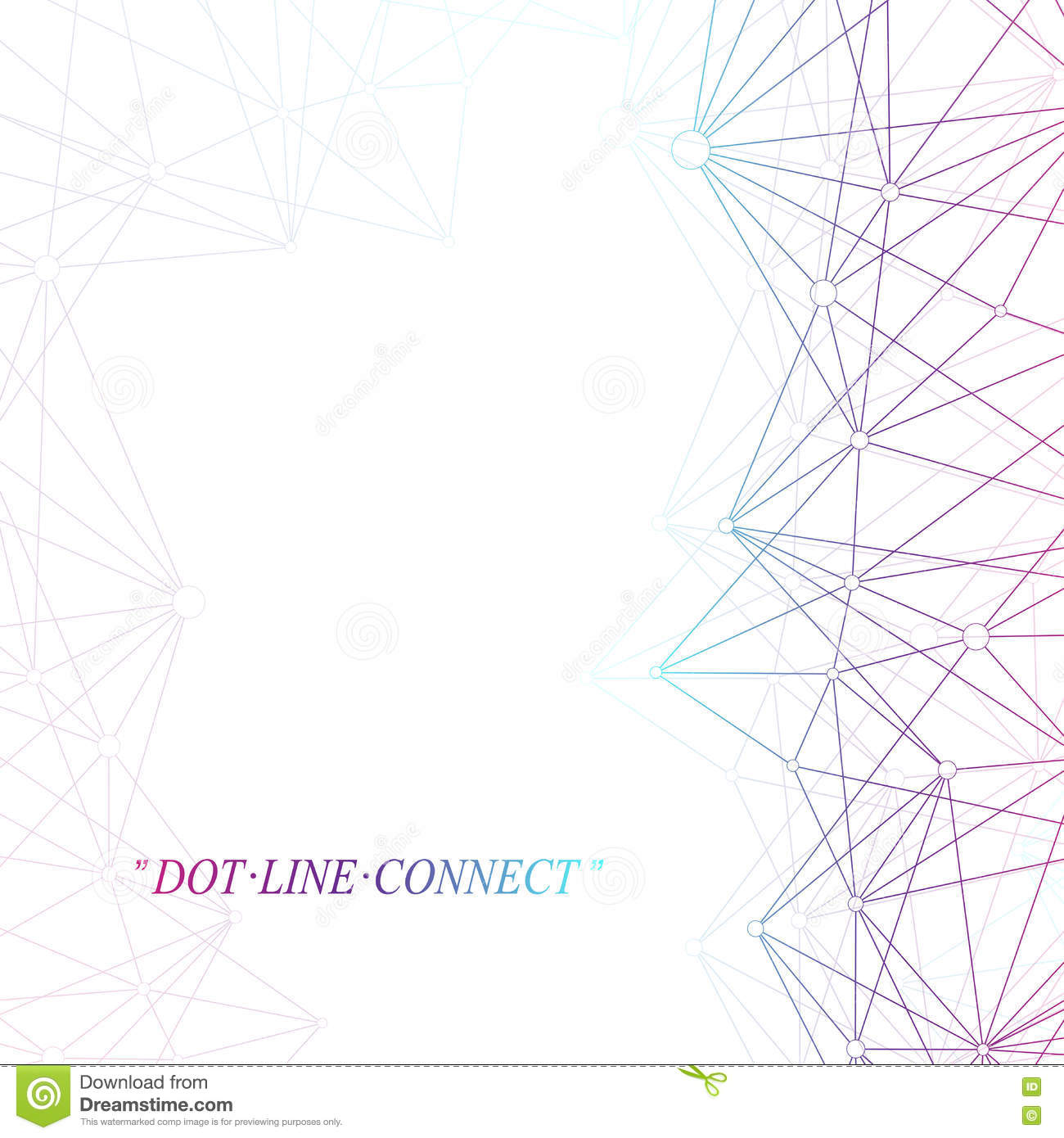 Line Composition In Fashion Designing : Colorful graphic background molecule and communication