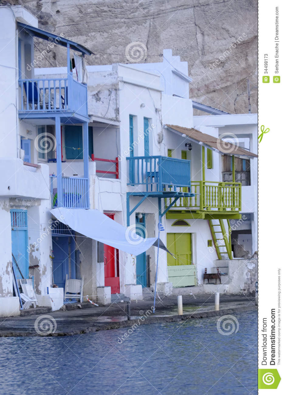 Colorful Greek homes stock image Image of colors houses 34498173