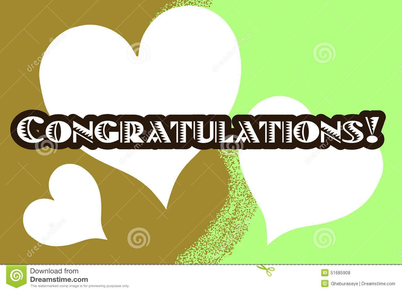 colorful greeting card with word congratulations stock vector