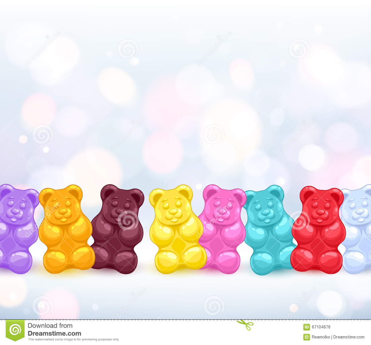 Colorful Gummy Bears Candies Background. Stock Vector ... - photo#38