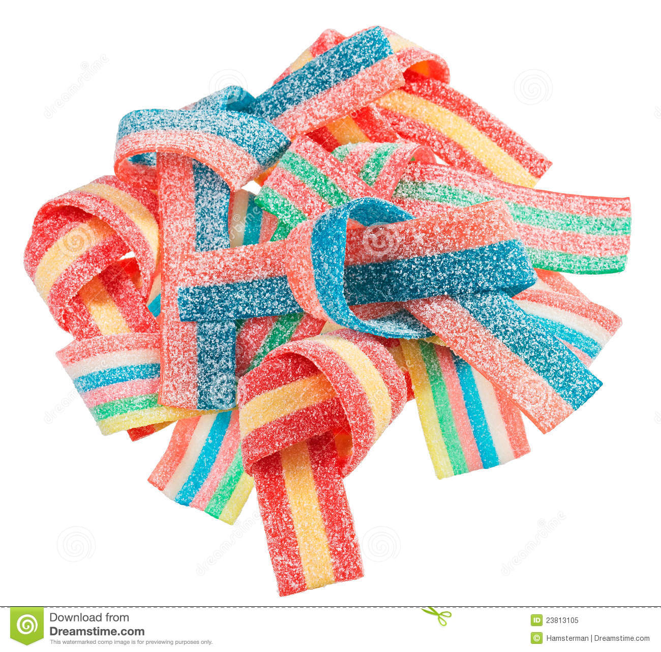 Colorful Gummy Candy Licorice Sweets Royalty Free Stock