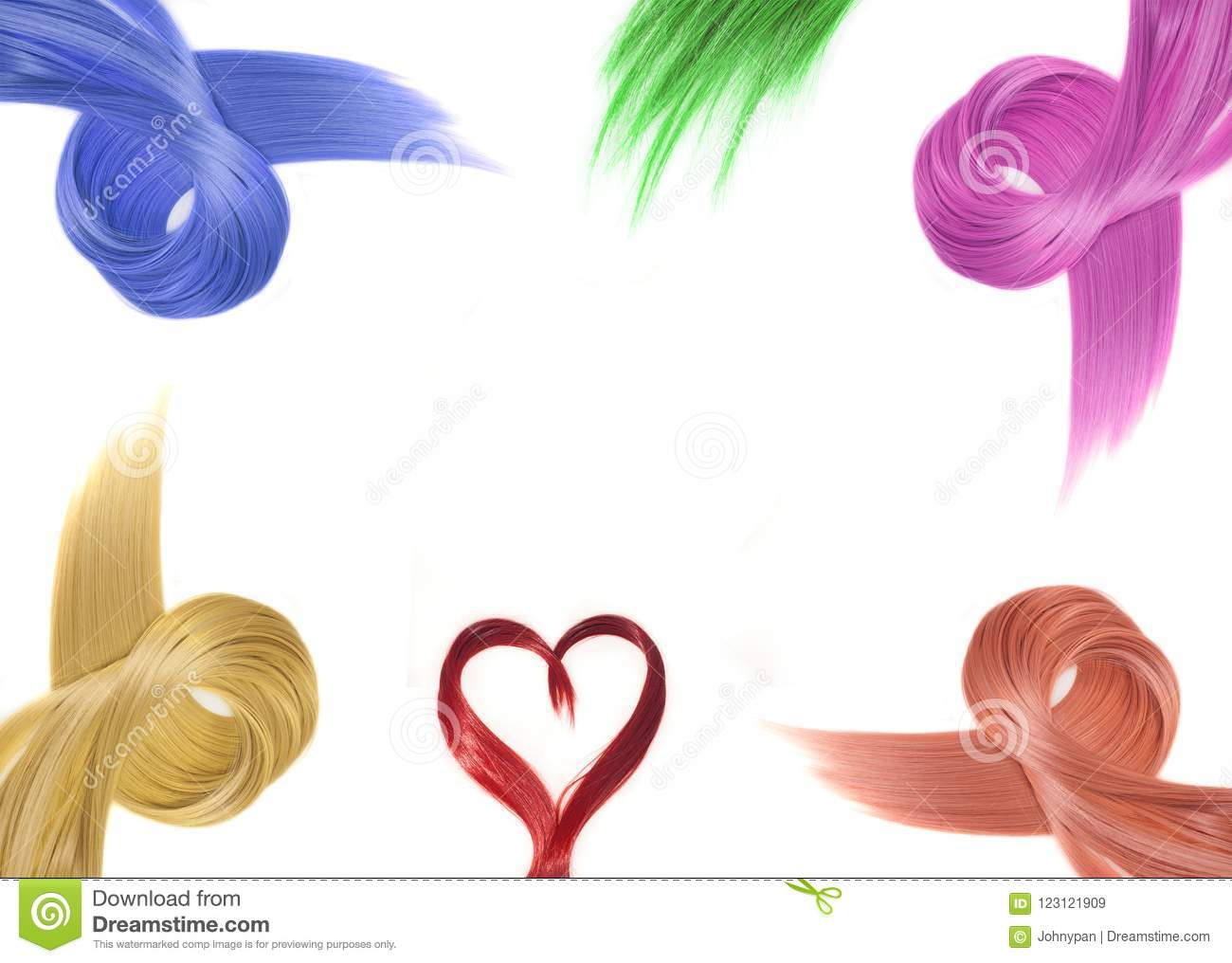 Colorful Hair Style Frame Isolated Stock Image Image Of Glamour
