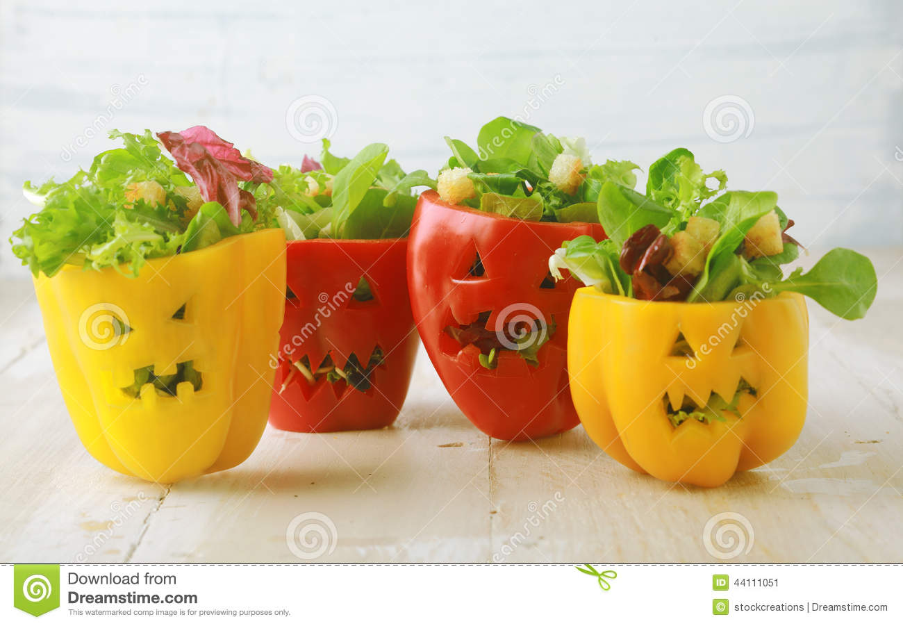 colorful halloween food background stock image - Halloween Healthy Food